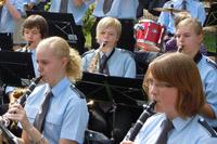 Orchester beim Pfarrfamilienfest